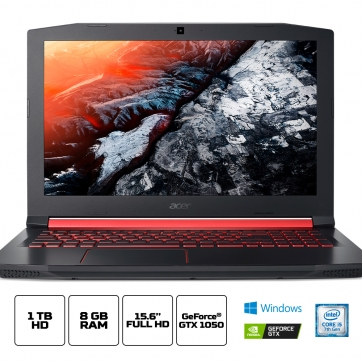 NOTEBOOK ACER GAMER NITRO 5 AN515-51-50U2 INTEL CORE I5 7300HQ 8GB 1TB 15,6 FULL HD GEFORCE GTX 1050 4GB WINDOWS 10 HOME